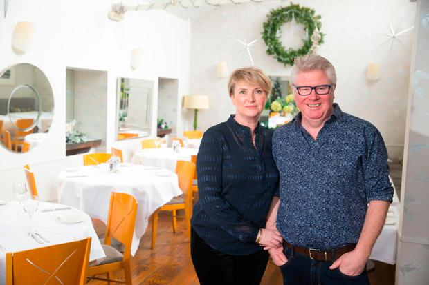 Chef Paul Flynn with his wife Máire from The Tannery, Dungarvan, Co. Waterford. Picture: Patrick Browne