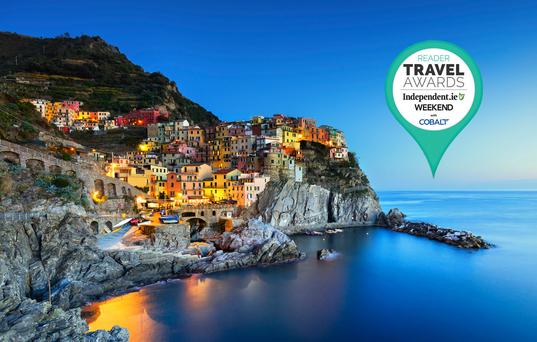 Cinque Terre. Italy is 'Ireland's favourite (overseas) destination' in the Reader Travel Awards 2018.