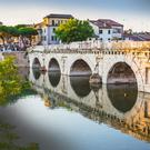 The stunning Ponte di Tiberio in Rimini was built 2,000 years ago