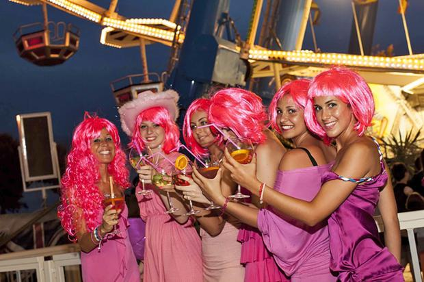 The entire town turns out for La Notte Rosa - the Pink Night - on the first weekend in July