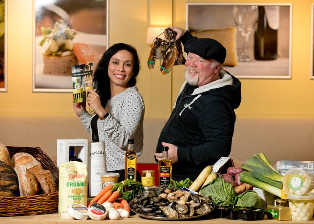 Pictured are Fáilte Ireland Food Champions Ketty Elisabeth, Delicious Dublin Tours and Gabriel Faherty, Aran Island Goats Cheese, Galway at the launch of Fáilte Ireland's new Food and Drink Strategy 2018-2023. Photo: Chris Bellew /Fennell Photography