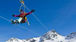 The zipline in Val Thorens:probably the highest in the world, but definitely the scariest