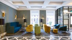 Inside the Iveagh Garden Hotel