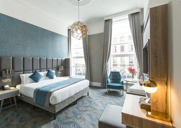 A bedroom at the Iveagh Garden Hotel on Harcourt Street, Dublin 2