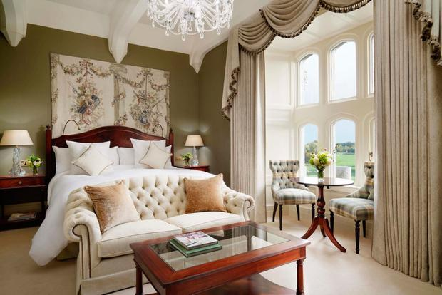Deluxe King bedroom, Adare Manor