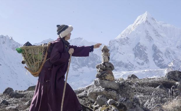 Elise Wortley in Sikkim. PA Photo/Handout.