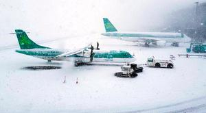 Snow at Cork Airport during Storm Emma. Photo: Twitter/Cork Airport