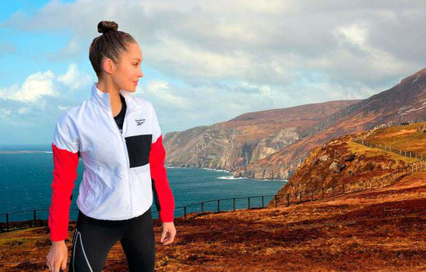 Roz Purcell and Slieve League (composite image)