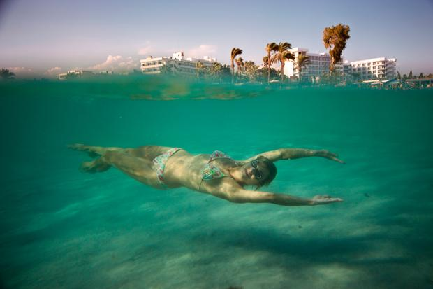 Swimming off Nissi Beach, Cyprus. Photo: Getty