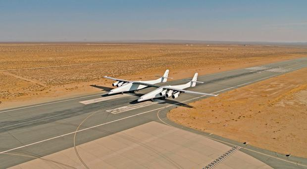 First flight approaches for world's largest plane (it's wider than a football pitch)