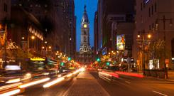 Philadelphia City Hall by night