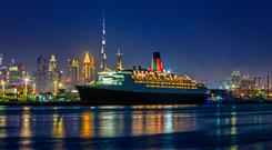 The QE2 at Mina Rashid, Dubai