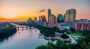 Sunset over Austin. Picture credit: PA Photo/Geoff Duncan/Visit Austin.