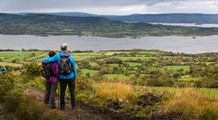 A couple hiking at Tountina, Co Tipperary. Photo: Fáilte Ireland