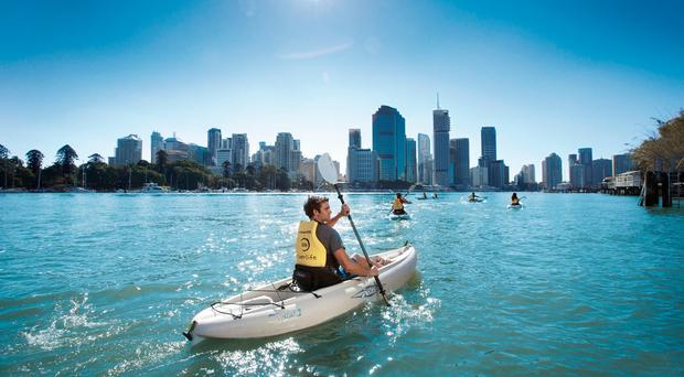 Kayaking in Brisbane. Photo: Australia.com