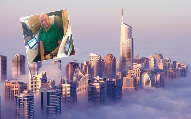 Rory Best (inset) en route to Dubai