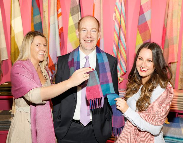Tara O'Neill, Anthony Kenny and Maoliosa Connell at the opening of the new Avoca Store at Dublin Airport. Photo: Kieran Harnett