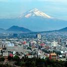 Aerial landscape view of Mexico city