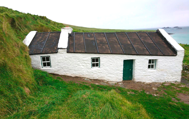 Tomás Ó Criomthain's restored cottage on the Great Blasket Island. Photo: OPW
