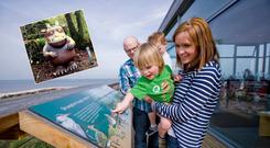 Family fun at Castle Espie (Photo: DiscoverNorthernIreland.com), with the Gruffalo Trail (inset; Photo: ColinGlen.org)