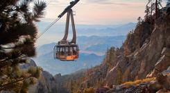 A cable car in Mount San Jacinto State Park. PA Photo/Greater Palm Springs tourism.