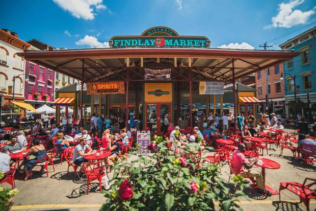 Findlay Market, in the heart of Cincinnati, is a shining example of the city's love affair with food