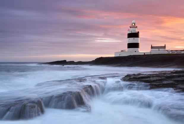 The second oldest operational lighthouse in the world stands guard over the Irish Sea at Hook Head, Co Wexford