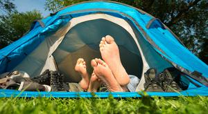 The great outdoors: The recent weather has been perfect for camping. Stock Image