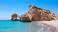 Rock of Aphrodite or Petra tou Ramiou in Cyprus