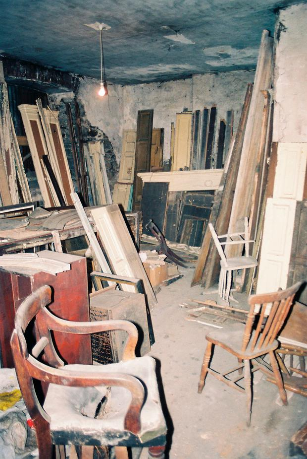 No. 14 Henrietta street in the 1980s, before its restoration. Photo: Dublin City Council