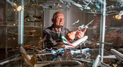 Model Aircraft Collector, Michael Kelly. Pic: Arthur Ellis