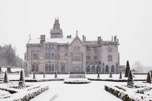 A snowy Adare Manor