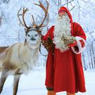 Santa with Rudolph. The magic only works when you believe...