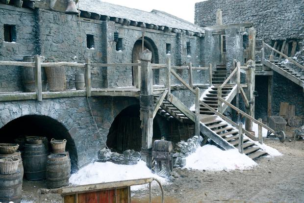 The Winterfell set from Game of Thrones.