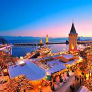 Lindauer Harbour at Christmas. Photo: LIndau Tourismus / Wolfgang Schneider