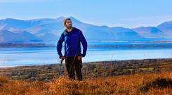Minister Griffin is pictured at one of his favourite spots in Kerry….on the Sliabh Mish Mountains, near his home place on the Dingle Peninsula. Photo: Valerie O'Sullivan
