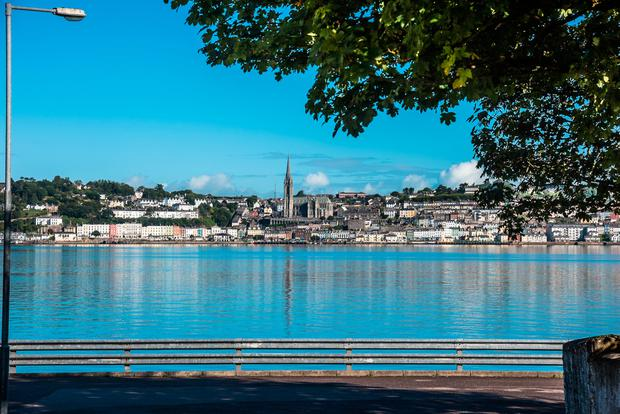 Cobh, viewed from Spike Island