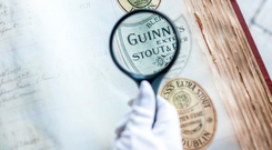 Pub labels from the Guinness Archives