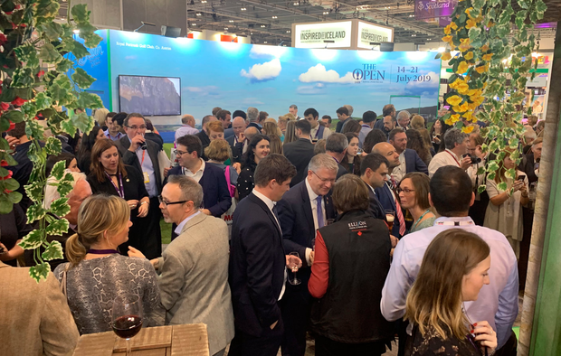 Socialising at the Tourism Ireland stand at WTM 2018