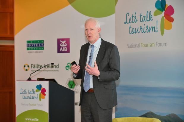 Paul Kelly, CEO of Fáilte Ireland, at the Let's Talk Tourism forum in Killarney. Photo: Don MacMonagle