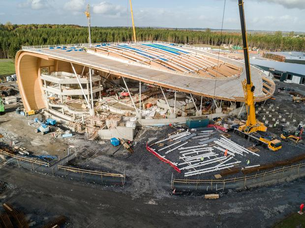 The 'Subtropical Swimming Paradise' under construction in Longford. Photo: Arc Studios
