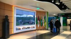 The new video wall at Ireland West's Visitor Discovery Centre