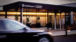 Arriving at Dublin Airport's 'Platinum Services' terminal