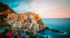 Paradise by sea: The picturesque village overlooks the Riviera