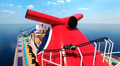 The rollercoaster on Carnival's Mardi Gras (Artists' Impression)