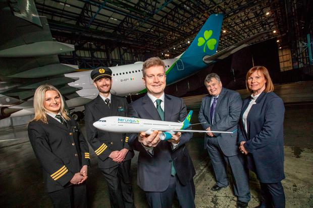 Aer Lingus unveils new livery and logo