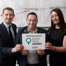 Pól Ó Conghaile, Neven Maguire and Cliona Carroll at the Irish Independent Reader Travel Awards. Photo: Fran Veale