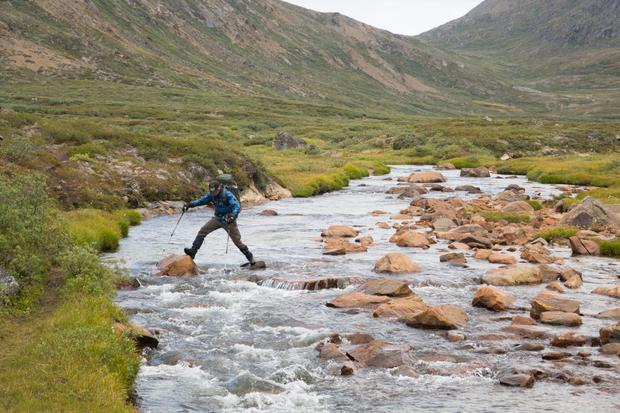 Hiking the Arctic Circle Trail in Greenland . Photo: David Flanagan