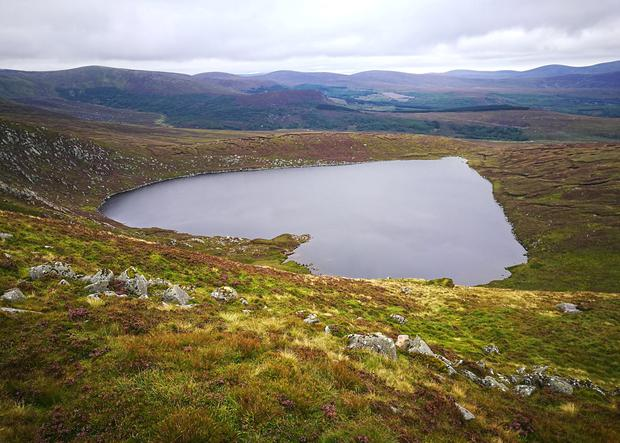 Lough Ouler, a heart-shaped lake in the Wicklow Mountains
