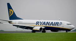 Growing: Ryanair expects to carry 152 million flyers this year